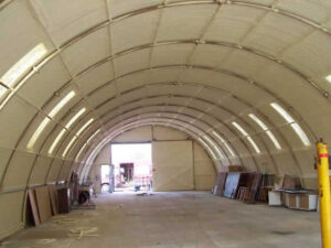 Duratherm spray foam insulation of a bunker