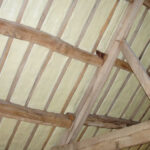 Roof treated with Duratherm Spray Foam Insulation