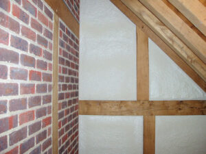 Duratherm spray foam on wall