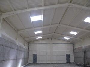 Roof Insulation in Hanger