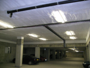 Soffit Insulation using PIRTHANE in carpark