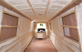 Insulation in a narrow-boat