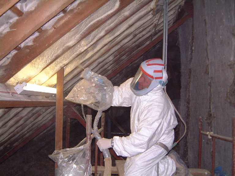 Spray Foam Insulation install